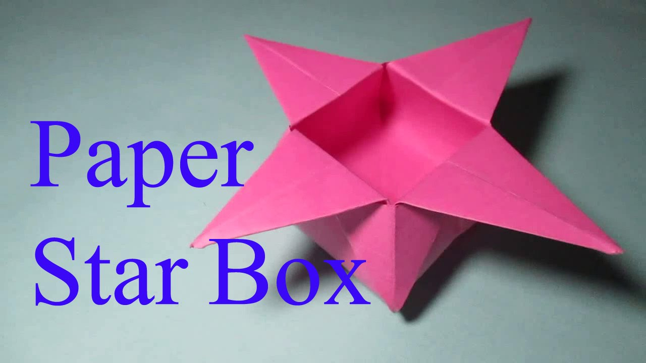 Star Box Simple Origami Star Box Folding Instructions
