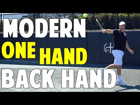 The Modern Tennis Backhand | The One Hand Backhand