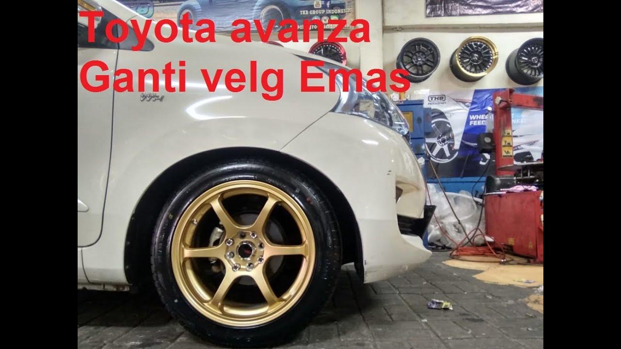 Modifikasi Toyota Avanza Ganti Velg Emas Ring 16 Dari Hsr Wheel Youtube