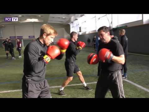 Trainingseinheit mit Ex-Boxweltmeister und Veilchen-Mitglied Markus #Beyer