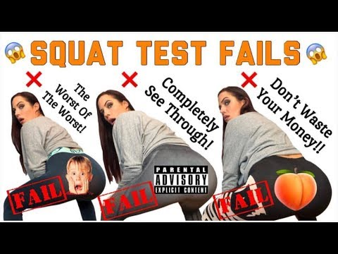 SQUAT TEST FAILS!! The Most See Through Leggings! Including Gymshark, TYC, & More! thumbnail