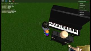 Awesome 2nd guy plays piano on roblox(Piano game)DESC LOOK)