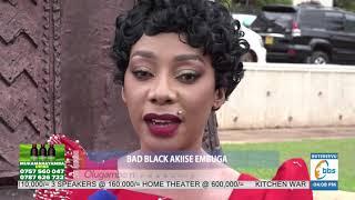 Shanita Namuyimbwa (Bad Black) akiise embuga, aguze Satifikeeti