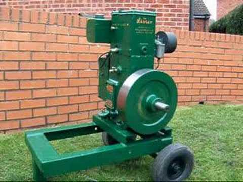 Lister d type stationary engine youtube for Stationary motors for sale