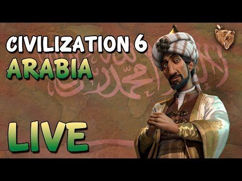 🔴 Live Civilization 6 Arábia #01 - Vamos Jogar Civ 6 Gameplay Português PT-BR