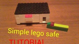 Как сделать простой лего сейф с ключом / Simple lego safe with key (Tutorial)