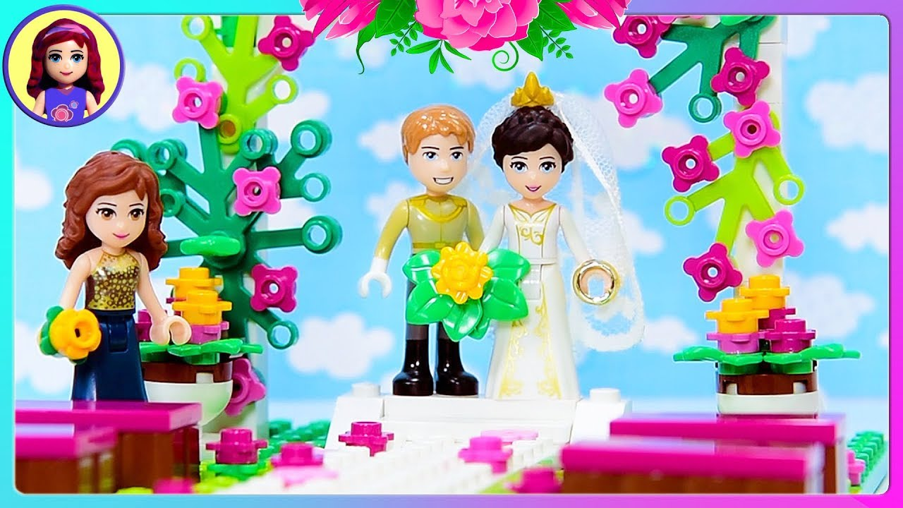 Custom Lego Friends Wedding Build And Bride Dress Up Craft Diy Kids