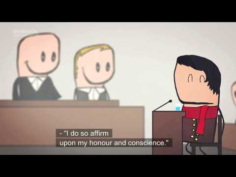 To be a witness in a norwegian court.