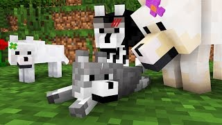 Wolf Life: The Family -- Minecraft Animation