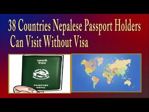38 VISA FREE COUNTRIES  FOR NEPALI PASSPORT HOLDERS ll नेपाली पासपाेर्टमा सजिलै जान सकीने ३८ देशहरु