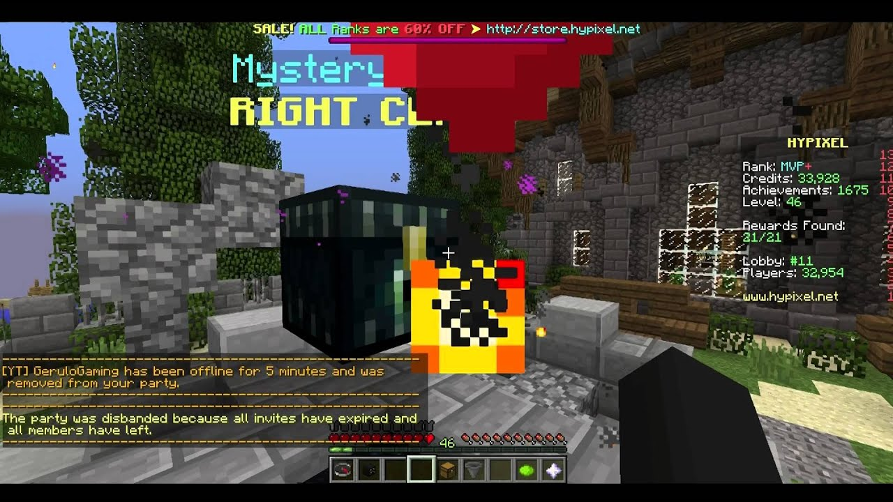 hypixel how to open mystery boxes