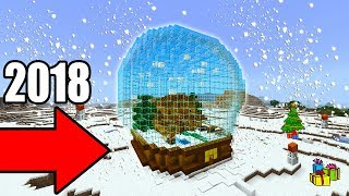 Minecraft Tutorial: How To Make A Snow Globe House 2018 Tutorial
