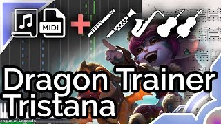 Dragon Trainer Tristana theme - League of Legends (Synthesia Piano Tutorial)