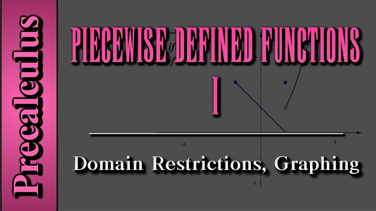 Precalculus: Piecewise Defined Functions (Level 1)   Domain ...