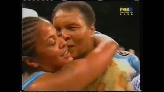 Muhammed Ali at Laila Ali fight