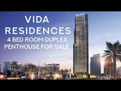 4 Bedroom Duplex Penthouse for sale in Dubai | Vida Residences Apartment for Sale