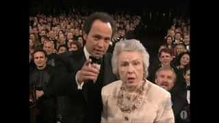 Fay Wray and Billy Crystal at the Oscars