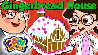 How to Make a Gingerbread House! Christmas Kids Science Experiment | The Nikki Show at Cool School