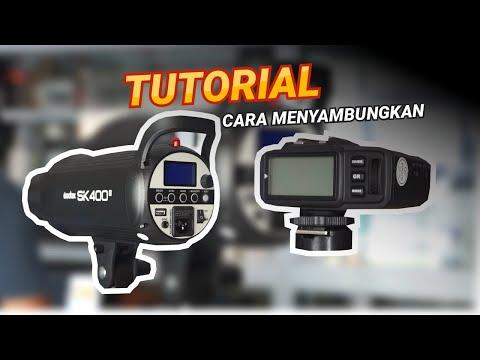 Tutorial Cara Menyambungkan Lampu Studio Godox SK400II/SK300II ke Trigger Godox X1T - Gampang Banget