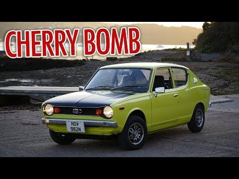 1975 Datsun 100a Cherry - Cherry Bomb Sound Test