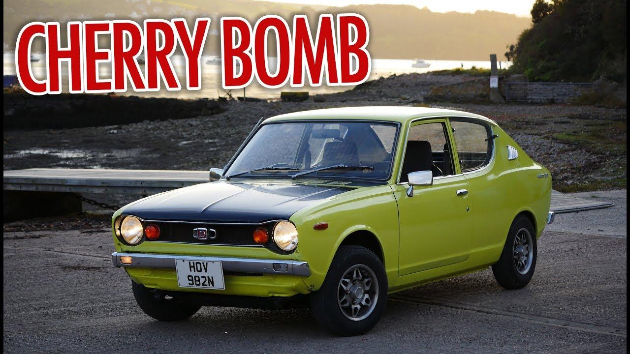 1975 datsun 100a cherry cherry bomb sound test youtube