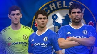 FORMATION TIPS PES 2017 // 3-4-3 CHELSEA 2016/17