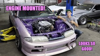 Honda V6 Is Mounted Up In Our S14!