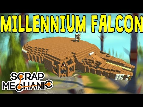 Scrap Mechanic Gameplay  Millennium Falcon Flying Build Ep. 3