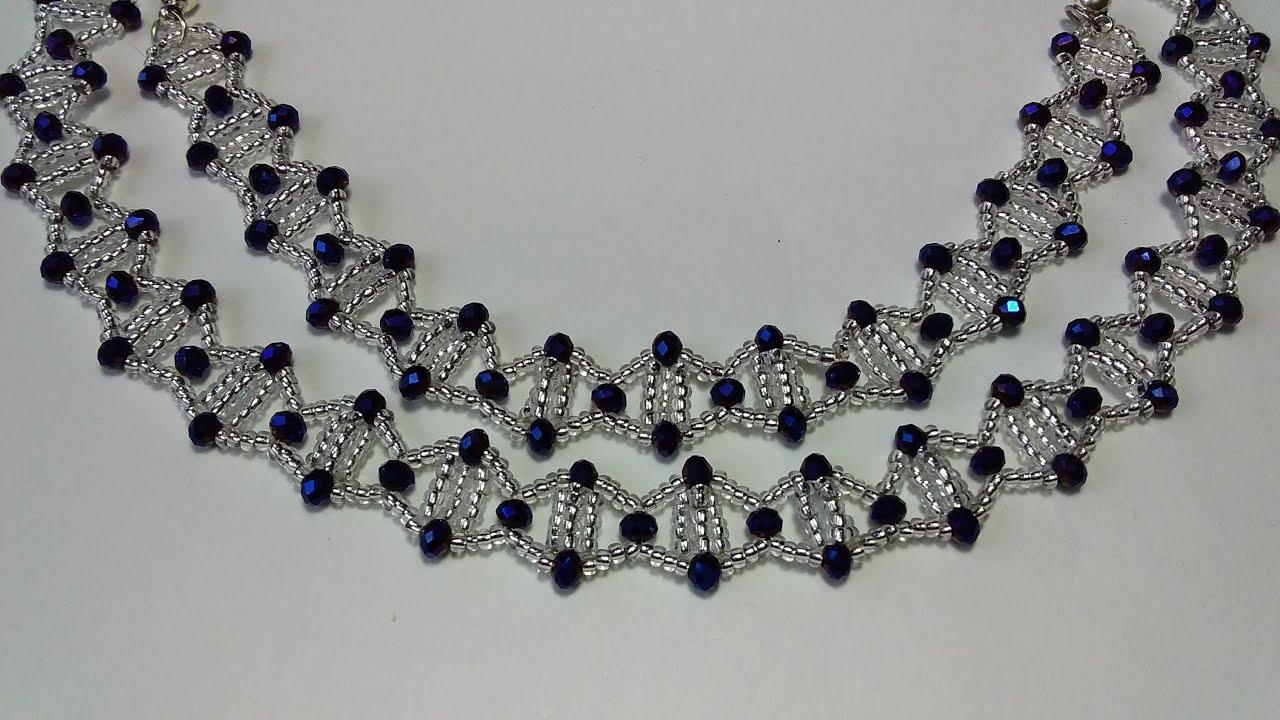 Украшение из бисера. Ожерелье из бисера и бусин. Мастер класс ... | 720x1280