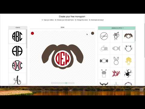 Create Monograms For Cricut Design Space For Free
