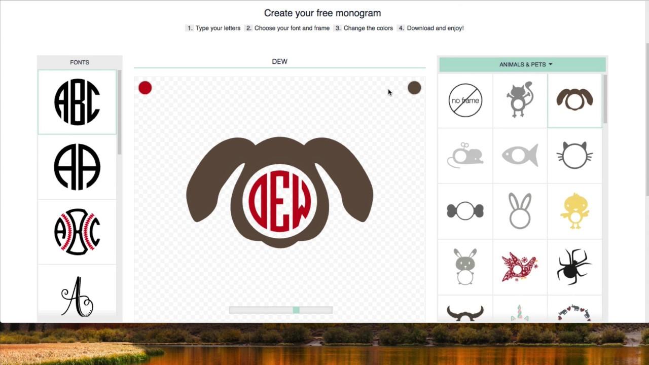 create monograms for cricut
