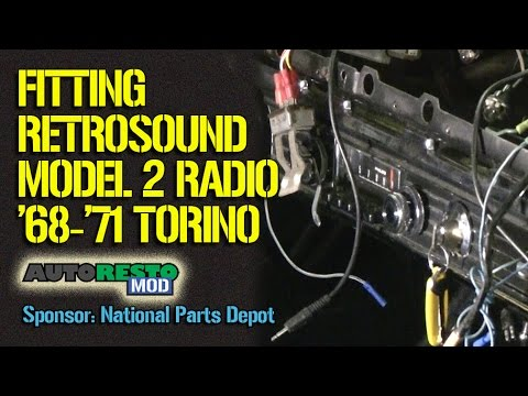 Setting up a Retrosound Radio for use in a 1968 1971 Fairlane Torino Episode 256 Autorestomod