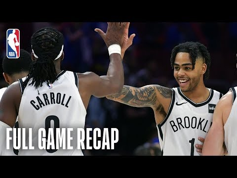 NETS vs 76ERS | D'Angelo Russell Scores 19 In The 2nd Half | Game 1