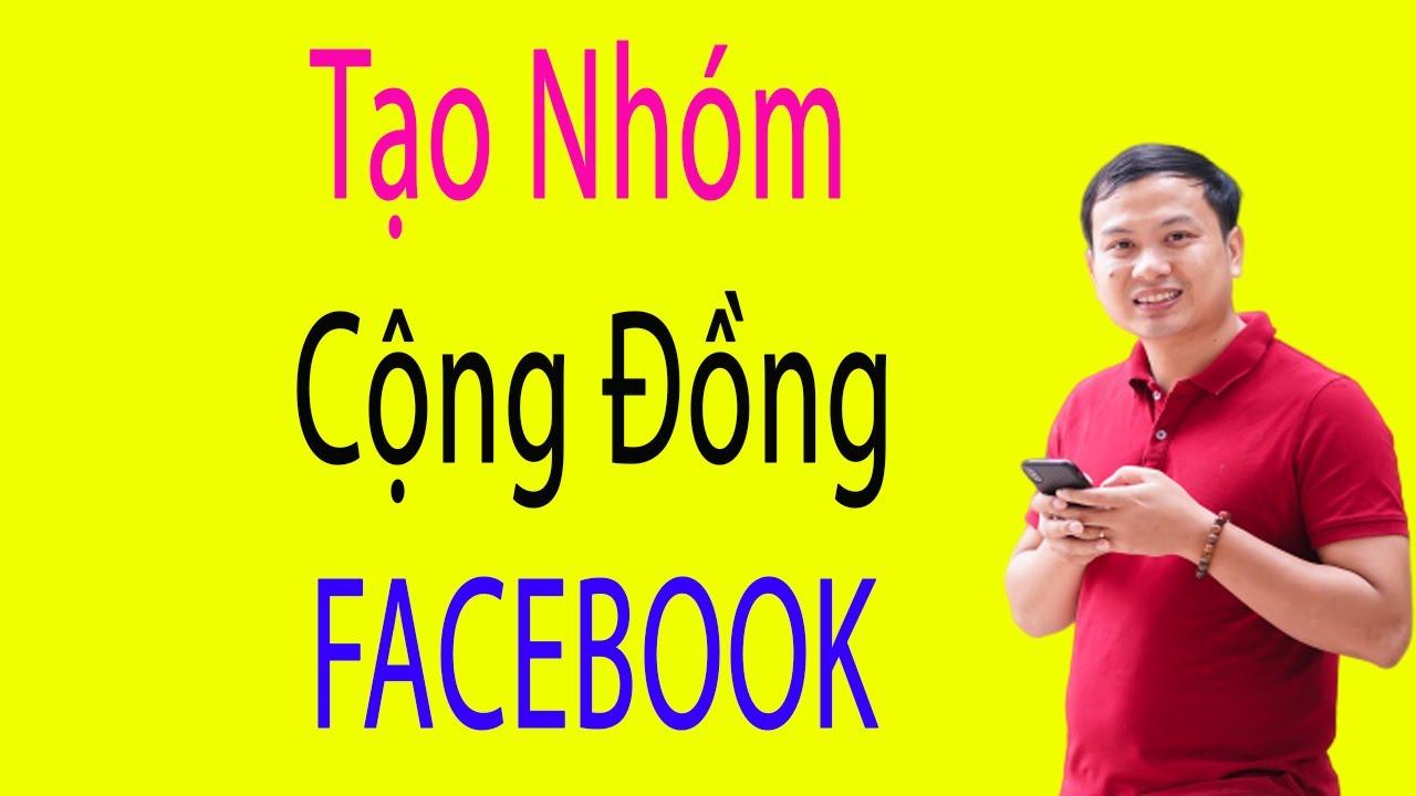 Hướng dẫn tạo Group Cộng Đồng Trên Facebook bằng điện thoại