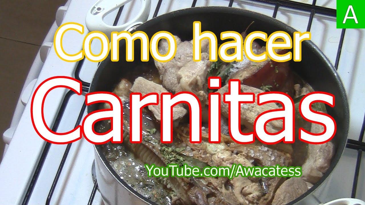 Carnitas de Puerco Caseras. Recetas de cocina de comidas mexicanas ...