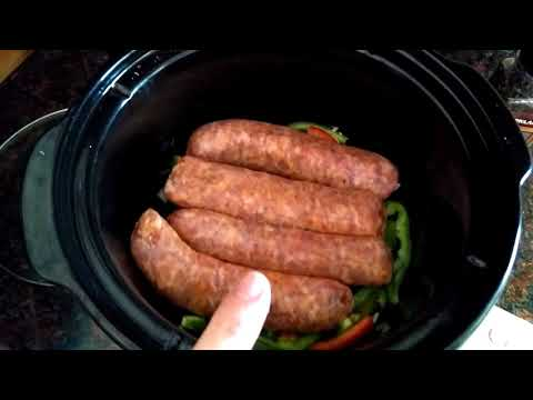 Super Simple Crock Pot Italian Sausage - Large Family Cooking