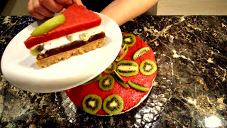 Торт без выпечки.Желейный торт.Торт без выпечки из печенья.Торт из желе.Желейный торт без выпечки.