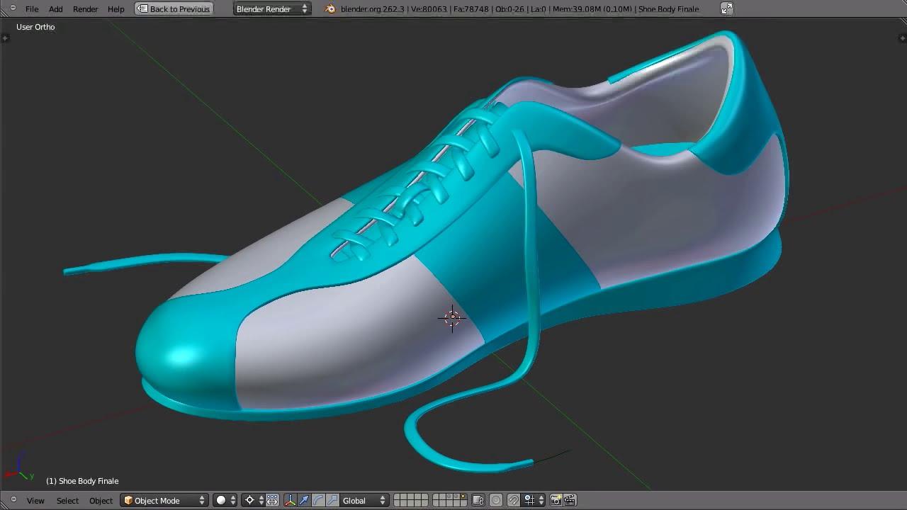 In Blender Part Modeling Shoe 01 nwXZN8Ok0P