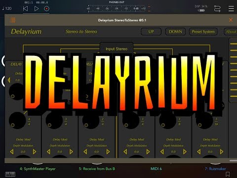 DELAYRIUM Multi Tap Delay - AUv3 - Demo for the iPad