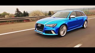 WrapStyle™ - Blue Chrome Audi RS6 Joker / Car Wrapping