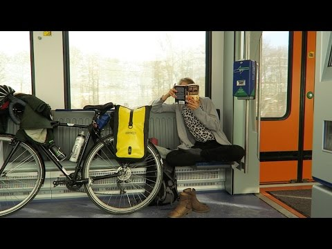 Traveling with bicycle on train in Germany | visiting a vegan supermarket :)