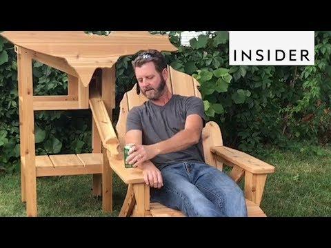 Wood Chair Dispenses Beer