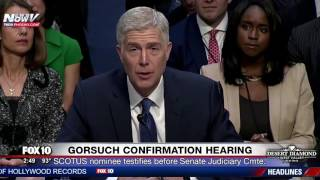 WATCH: SCOTUS Nominee Judge Neil Gorsuch's Opening Statement During Senate Confirmation Hearing