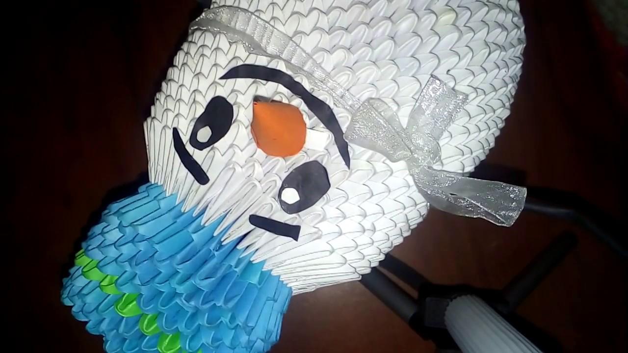 Оригами видео как сделать снеговика фото 832