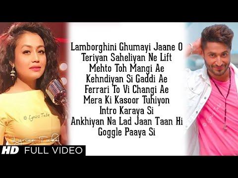 Lamborghini Ghumayi Jaane Ho Full Song Lyrics Neha Kakkar, Jassie Gill  Jai Mummy Di, Audio, 2019