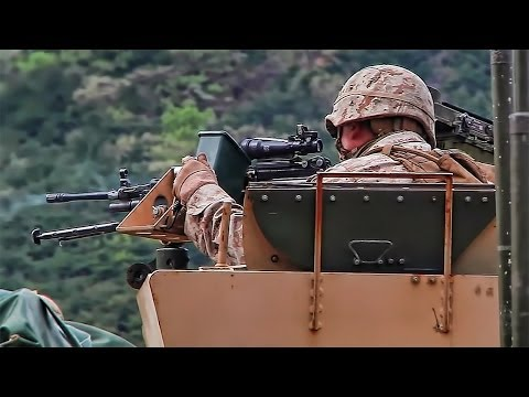 U.S. Marines Lay Down Cover Fire