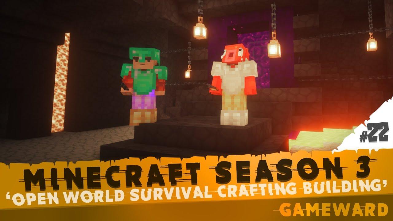 Τούμπανο το portal! #22   Minecraft Season 3   Greek