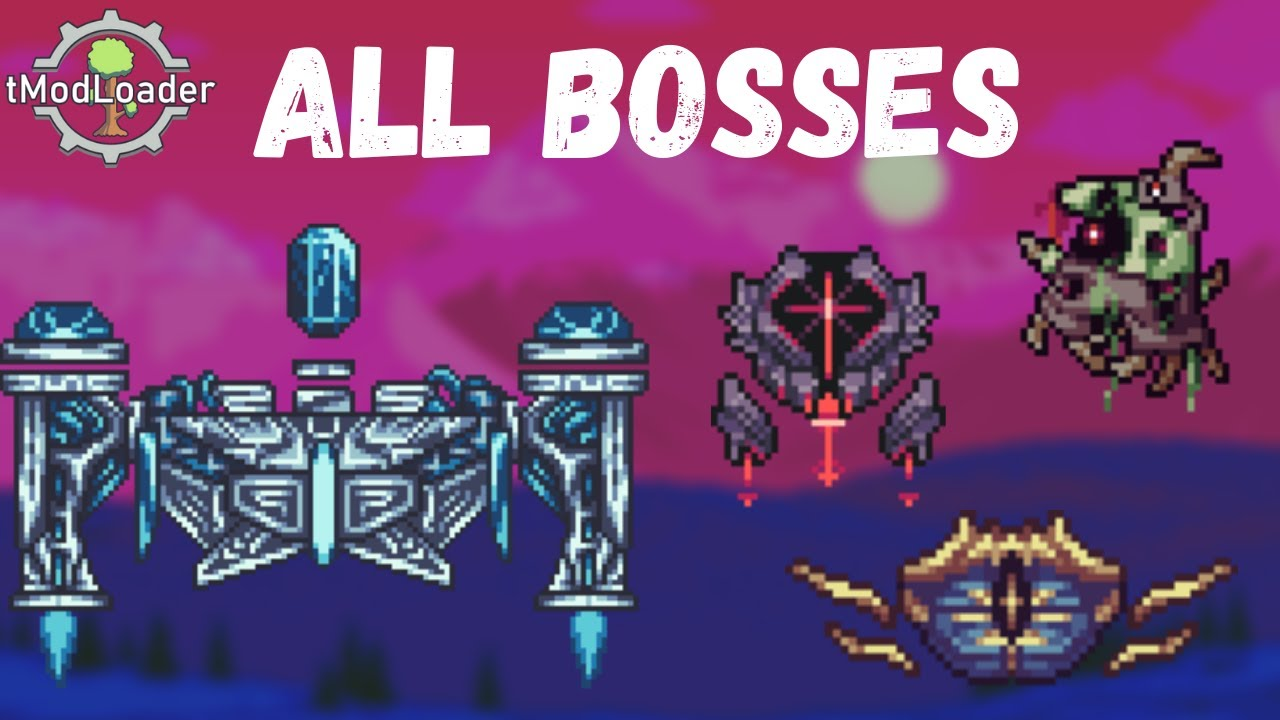 Inlustris mod All Bosses || Terraria