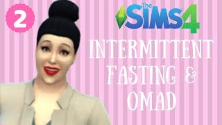 INTERMITTENT FASTING & OMAD || THE SIMS 4 FOODIE BEAUTY WEIGHT LOSS JOURNEY