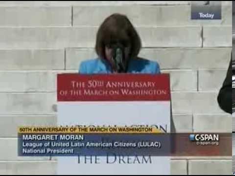 LULAC President Margaret Moran's Speech at the Mar...